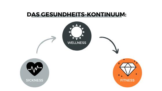 Sickness, Wellness, Fitness Kontinuum